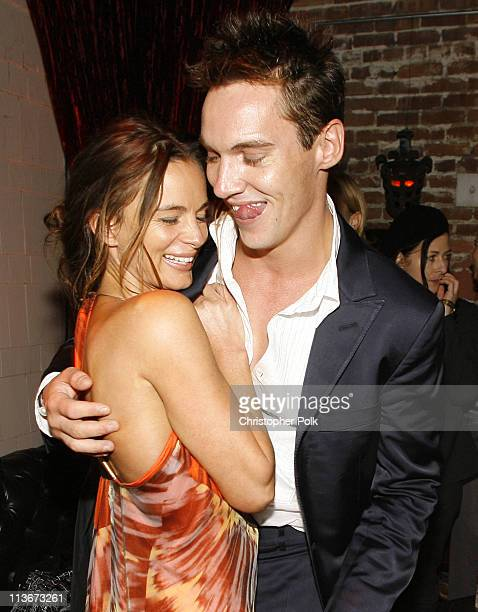 Gabrielle Anwar and Jonathan Rhys Meyers during 'The Tudors' Los Angeles Premiere After Party at Egyptian Theatre in Hollywood California United...