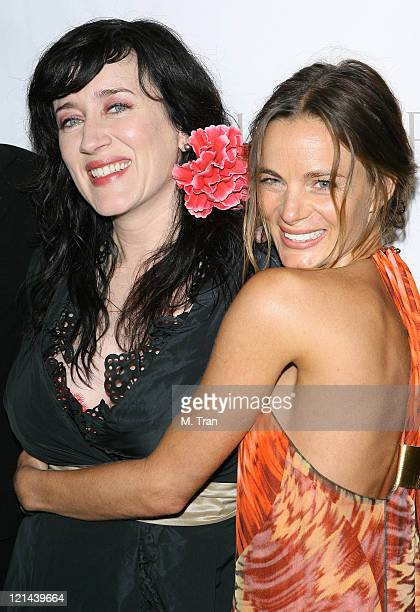 Gabrielle Anwar and Maria Doyle Kennedy during 'The Tudors' Los Angeles Premiere Arrivals at Egyptian Theatre in Hollywood California United States