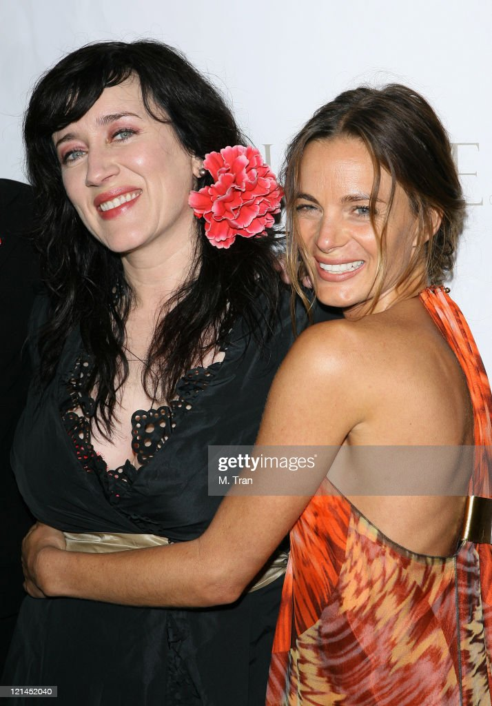 Gabrielle Anwar and Maria Doyle Kennedy during 'The Tudors' Los Angeles Premiere - Arrivals at Egyptian Theatre in Hollywood, California, United States.