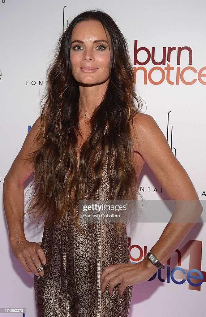 <a gi-track='captionPersonalityLinkClicked' href=/galleries/search?phrase=Gabrielle+Anwar&family=editorial&specificpeople=1139711 ng-click='$event.stopPropagation()'>Gabrielle Anwar</a> arrives at wrap party for 'Burn Notice' at Fontainebleau Miami Beach on July 27, 2013 in Miami Beach, Florida.