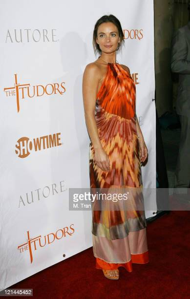 Gabrielle Anwar during 'The Tudors' Los Angeles Premiere Arrivals at Egyptian Theatre in Hollywood California United States