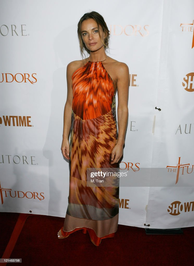 Gabrielle Anwar during 'The Tudors' Los Angeles Premiere - Arrivals at Egyptian Theatre in Hollywood, California, United States.