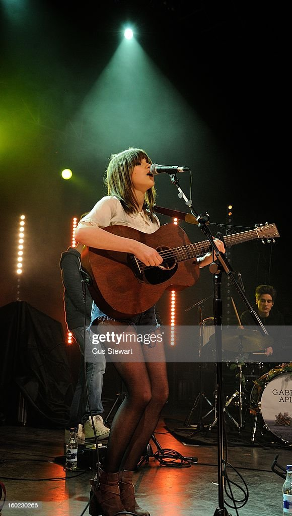 Gabrielle Aplin performs as part of the MTV Brand New series at The Forum on January 22, 2013 in London, England.