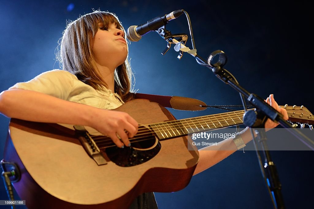 Gabrielle Aplin performs on stage as part of the MTV Brand New series at The Forum on January 22, 2013 in London, England.
