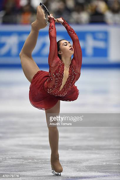 Gabrielle Daleman of Canada compete in the ladie's free skating during the day three of the ISU World Team Trophy at Yoyogi National Gymnasium on...