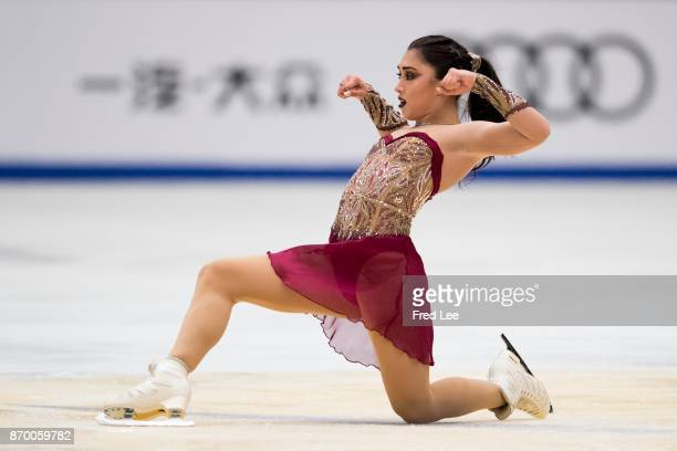 Gabrielle Daleman of Canada compete in the Ladies Free Skating on day two of Audi Cup of China ISU Grand Prix of Figure Skating 2017 at Beijing...