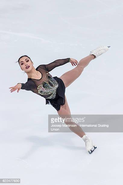 Gabrielle Daleman of Canada competes during Ladies Short Program on day one of the Trophee de France ISU Grand Prix of Figure Skating at Accorhotels...