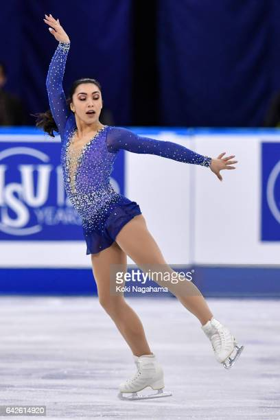 Gabrielle Daleman of Canada competes in the Ladies Free Skating during ISU Four Continents Figure Skating Championships Gangneung Test Event For...