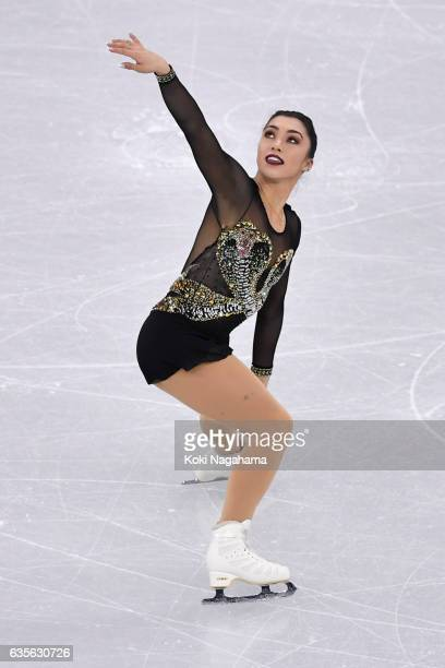 Gabrielle Daleman of Canada competes in the Ladies Short Program during ISU Four Continents Figure Skating Championships Gangneung Test Event For...