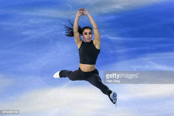 Gabrielle Daleman of Canada performs during exhibition program of Audi Cup of China ISU Grand Prix of Figure Skating 2017 at Beijing Capital...