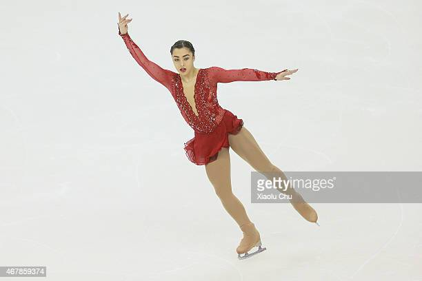 Gabrielle Daleman of Canada performs during the Ice DanceLadies Free Skating on day four of the 2015 ISU World Figure Skating Championships at...