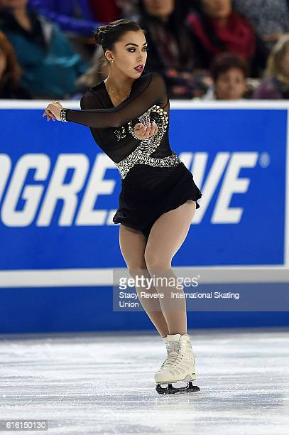Gabrielle Daleman of Canada performs during the Ladies Short Program on day 1 of the Grand Prix of Figure Skating at the Sears Centre Arena on...