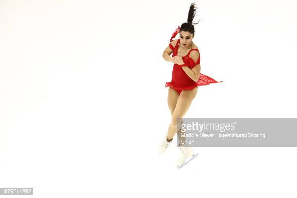 Gabrielle Daleman of Canada performs in the Ladies short program on Day 2 of the ISU Grand Prix of Figure Skating at Herb Brooks Arena on November 25...