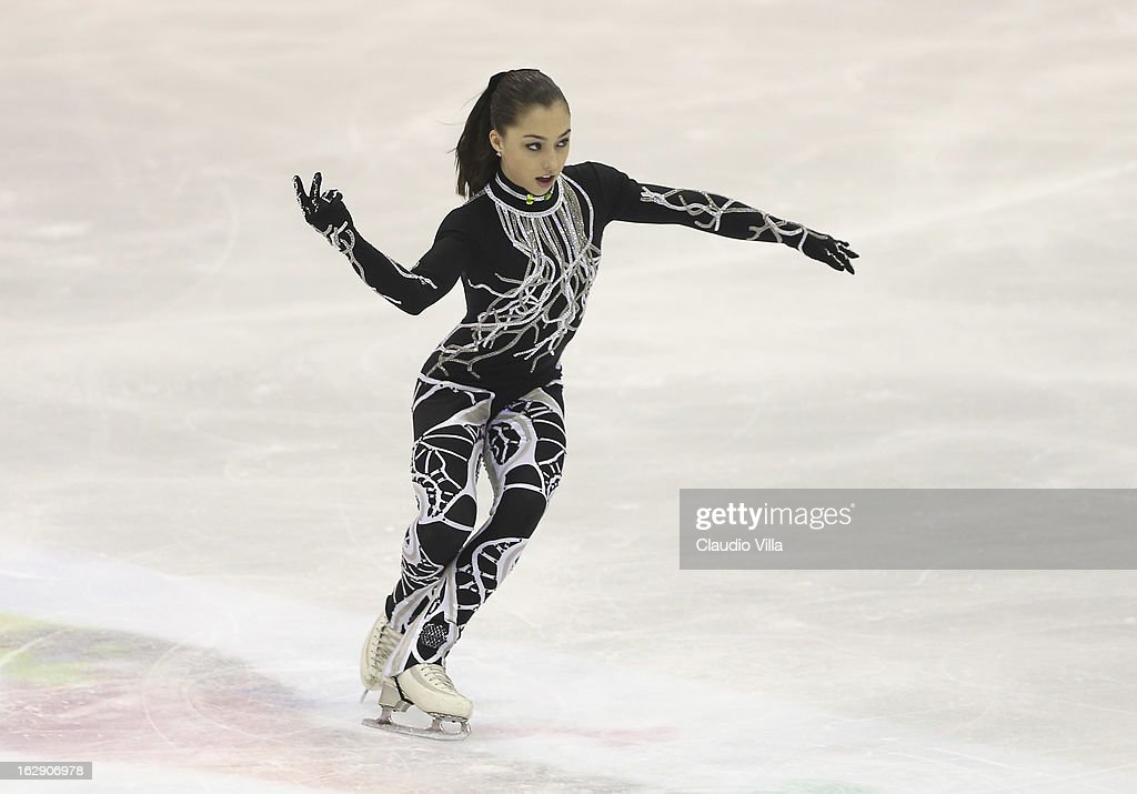 Gabrielle Daleman of Canada skate in the Junior Ladies Short Program during day 5 of the ISU World Junior Figure Skating Championships at Agora Arena on March 01, 2013 in Milan, Italy.