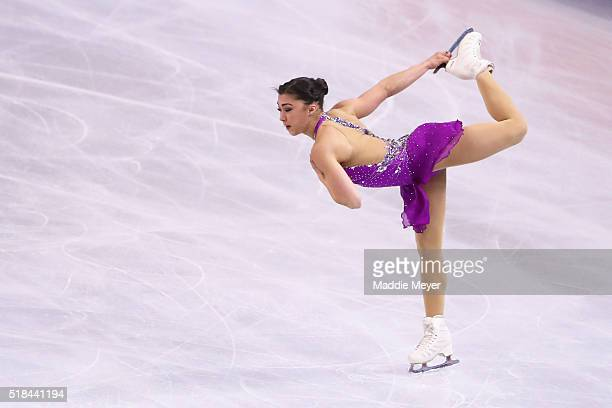 Gabrielle Daleman of Canada skates in the Ladies Short Program during Day 4 of the ISU World Figure Skating Championships 2016 at TD Garden on March...