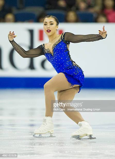 Gabrielle Daleman of Canada skates while competing during the Ladies Free Skate on day two of Skate Canada International ISU Grand Prix of Figure...