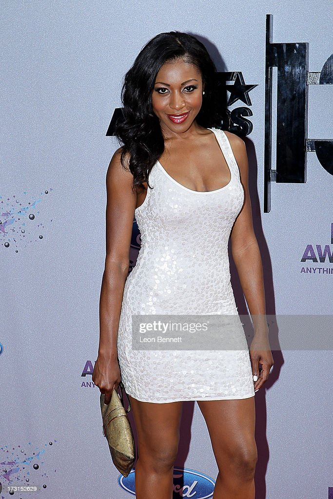 Gabrielle Dennis arrives at the 2013 BET Awards Make A Wish Arrivals at Nokia Plaza L.A. LIVE on June 30, 2013 in Los Angeles, California.