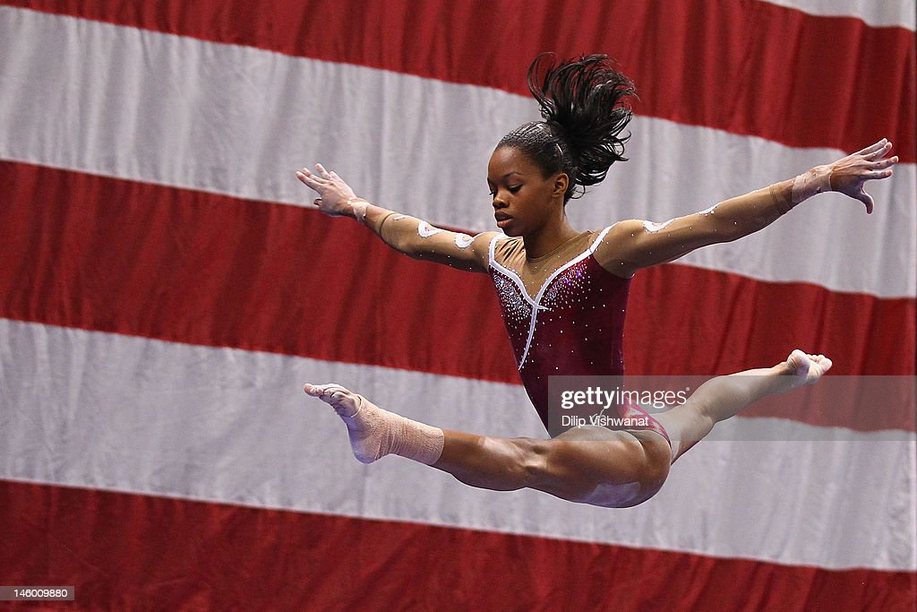 Gabrielle Douglas competes on the balance beam during the Senior Women's competition on day two of the Visa Championships at Chaifetz Arena on June 8, 2012 in St. Louis, Missouri.