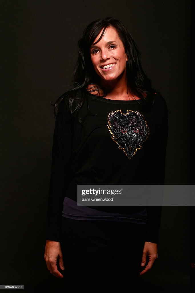 Gabrielle Dow, VP, Marketing, Baltimore Ravens poses at the World Congress Of Sports Executive Portrait Studio on April 4, 2013 in Naples, Florida.