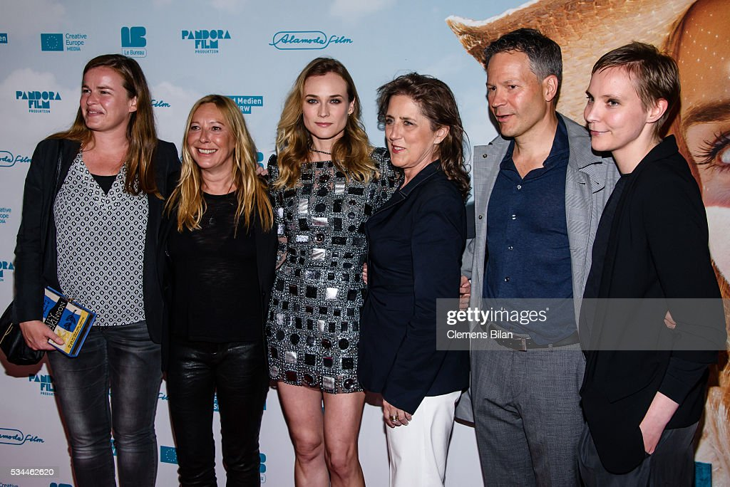 Gabrielle Dumon, Fabienne Berthaud, <a gi-track='captionPersonalityLinkClicked' href=/galleries/search?phrase=Diane+Kruger&family=editorial&specificpeople=202640 ng-click='$event.stopPropagation()'>Diane Kruger</a>, Petra Mueller, Christoph Friedel and Claudia Steffen attend the German premiere of the film 'Sky - Der Himmel in mir' at Zoo Palast on May 26, 2016 in Berlin, Germany.