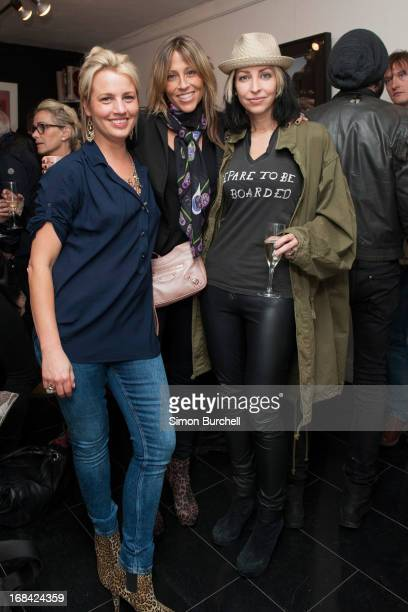 Gabrielle Duplooy Nicole Appleton and Natalie Appleton attend an exhibition of unseen Abbey road and rare David Bowie photographs by Iain Macmillan...