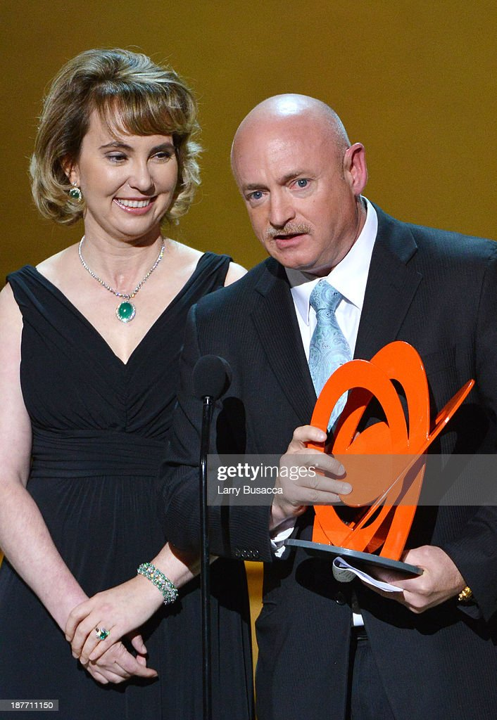 Gabrielle Giffords and Mark Kelly attend Glamour's 23rd annual Women of the Year awards on November 11, 2013 in New York City.