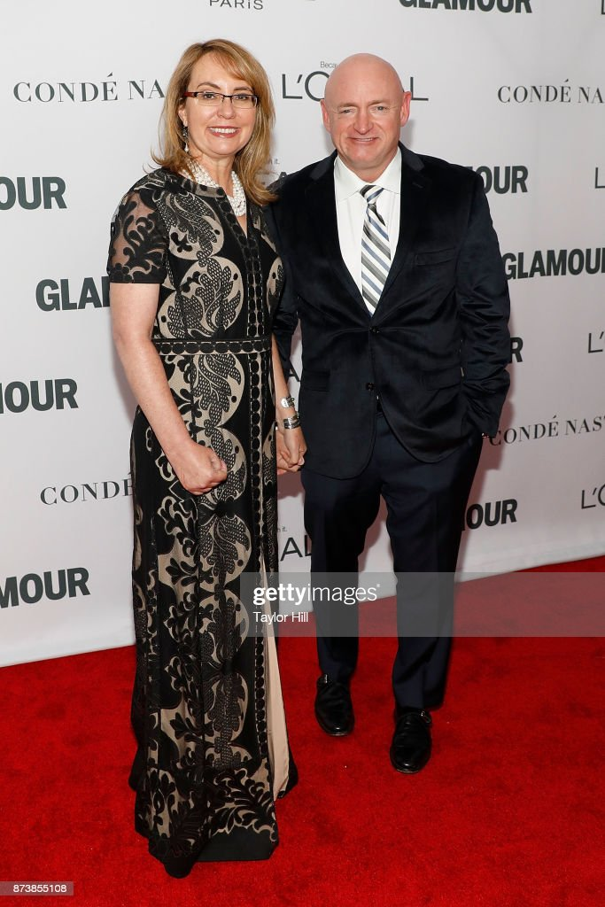 Gabrielle Giffords and Mark Kelly attend the 2017 Glamour Women Of The Year Awards at Kings Theatre on November 13, 2017 in New York City.