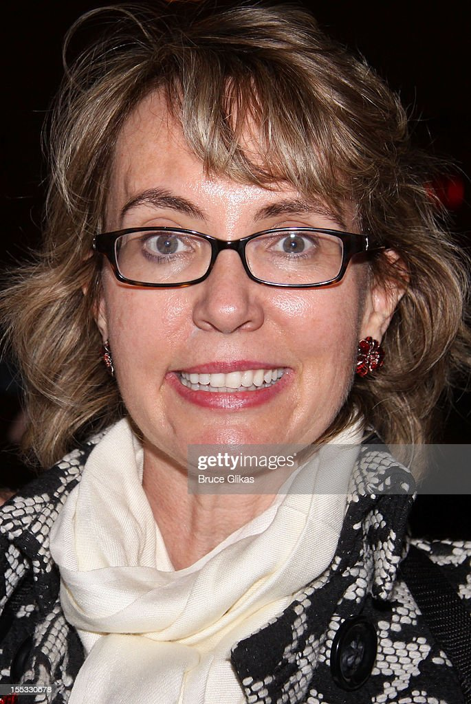 <a gi-track='captionPersonalityLinkClicked' href=/galleries/search?phrase=Gabrielle+Giffords&family=editorial&specificpeople=6961081 ng-click='$event.stopPropagation()'>Gabrielle Giffords</a> poses backstage at the hit revival of 'Annie' on Broadway at The Palace Theater on November 2, 2012 in New York City.