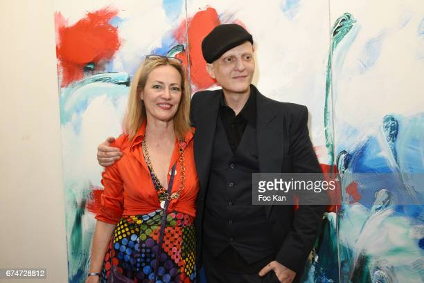Gabrielle Lazure and Ali Mahdavi attend Gabrielle Lazure 'Sixteen' Birthday Party at Galerie 18 Bis on April 28 2017 in Paris France