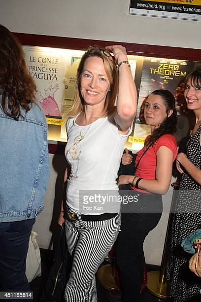 Gabrielle Lazure attends 'Ceremony' Chloe Bourges Film Screening Party At Cinema Majestic Bastille on June 24 2014 in Paris France
