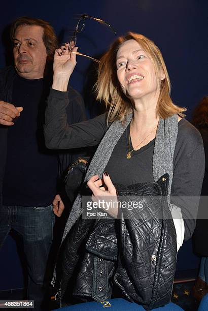 Gabrielle Lazure attends 'Le Chant des Mygales' Short Movie Private Screening at Cinema Etoile Saint Germain on March on March 14 2015 in Paris France