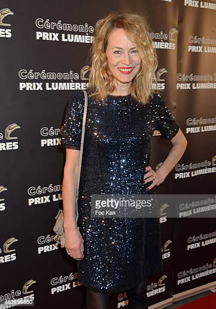 Gabrielle Lazure attends 'Les Lumieres 2015' Arrivals At Espace Pierre Cardin on February 2 2015 in Paris France
