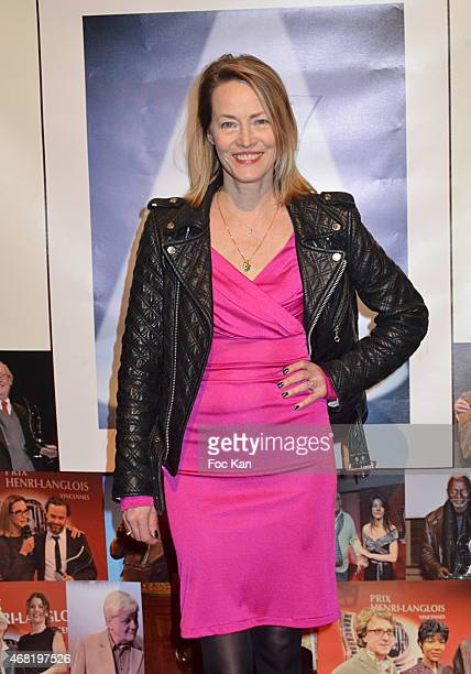 Gabrielle Lazure attends the 'Henri Langlois' 10th Award Ceremony At Unesco In Paris on March 30 2015 in Paris France