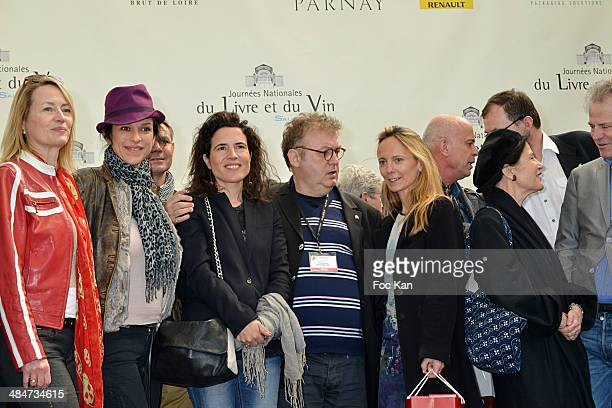 Gabrielle Lazure Jovanka Sopalovic Mazarine Pingeot Dominique Besnehard Delphine Coulin and Irene Frain attend the 'Journees Nationales du Livre et...