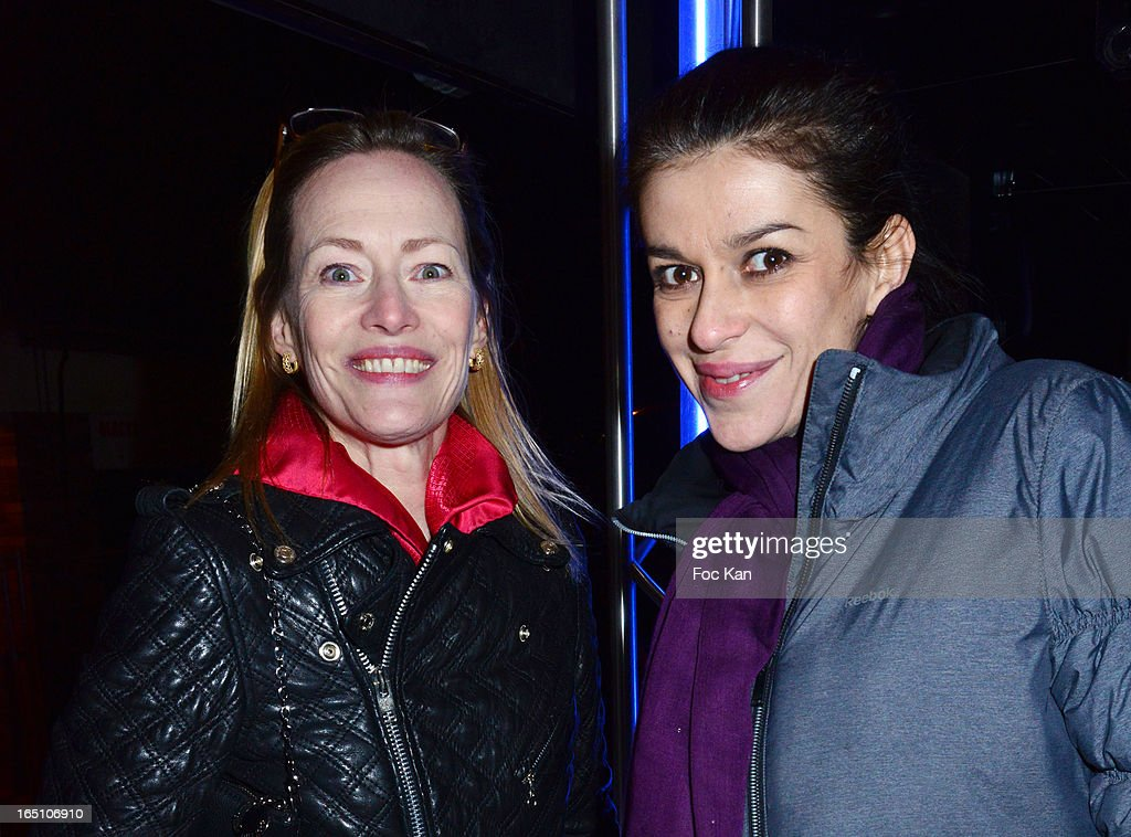 Gabrielle Lazureand Jovanka Sopalovic attend 'Les Toiles Enchantees' Children Care Association Auction Dinner During The 50th Foire du Trone at Pelouse de Reuilly on March 29, 2013 in Paris, France.