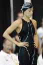 Gabrielle Rose of Irvine Novaquatics prepares for the women's 200 meter individual medley finals at the 2003 ConocoPhillips USA National Swimming...