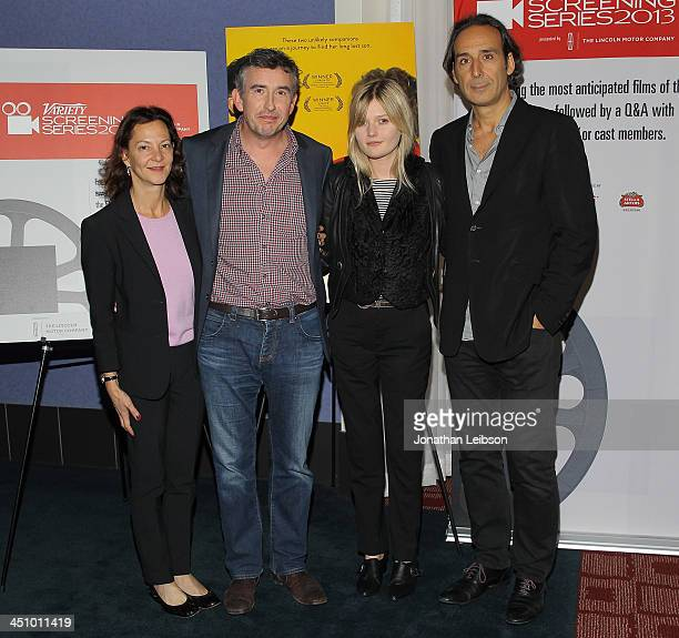 Gabrielle Tana Steve Coogan Sophie Kennedy Clark and Alexandre Desplat attend the 2013 Variety Screening Series Presents 'Philomena' at ArcLight...