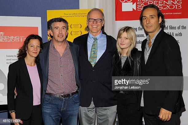 Gabrielle Tana Steve Coogan Tim Grey Sophie Kennedy Clark and Alexandre Desplat attend the 2013 Variety Screening Series Presents 'Philomena' at...