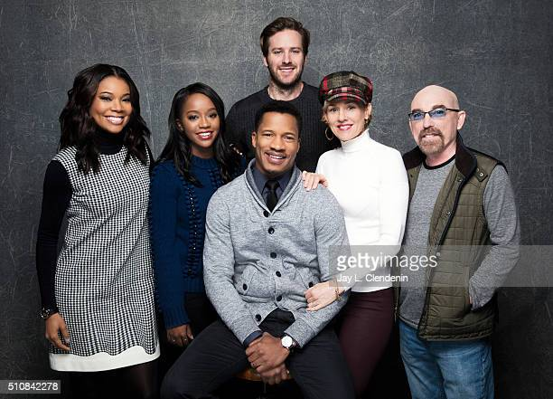 Gabrielle Union Aja Naomi King Jackie Earle Haley Armie Hammer Penelope Ann Miller and Nate Parker of 'The Birth of a Nation' pose for a portrait at...