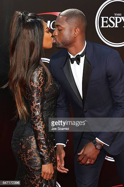 Gabrielle Union and Dwayne Wade arrive at The 2016 ESPYS at Microsoft Theater on July 13 2016 in Los Angeles California