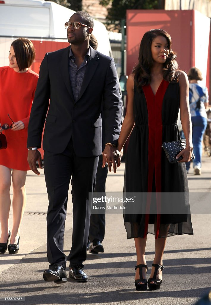 Gabrielle Union and Dwyane Wade attend day 2 of the 70th Venice International Film Festival on August 29, 2013 in Venice, Italy.