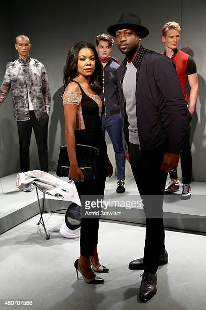 Gabrielle Union and Dwyane Wade attend EFM Engineered for Motion Presentation New York Fashion Week Men's S/S 2016 at Skylight Clarkson Sq on July 14...