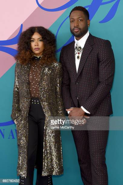 Gabrielle Union and Dwayne Wade attend the 2017 CFDA Fashion Awards at Hammerstein Ballroom on June 5 2017 in New York City