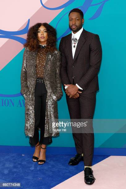 Gabrielle Union and Dwyane Wade attend the 2017 CFDA Fashion Awards at Hammerstein Ballroom on June 5 2017 in New York City
