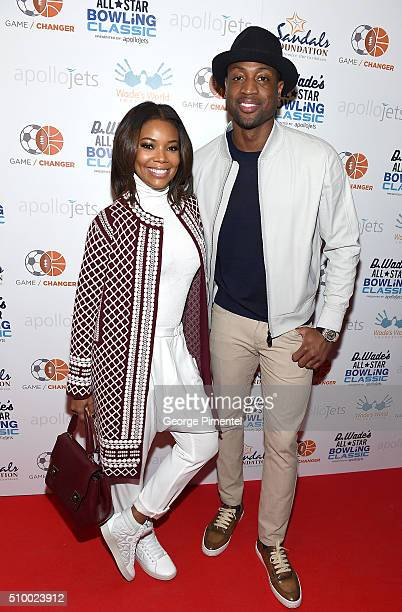 Gabrielle Union and Dwyane Wade attend the DWade All Star Bowling Classic Benefitting The Sandals Foundation And Wade's World Foundation at The...