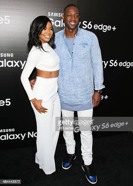 Gabrielle Union and Dwyane Wade attend the Samsung launch party on August 18 2015 in West Hollywood California
