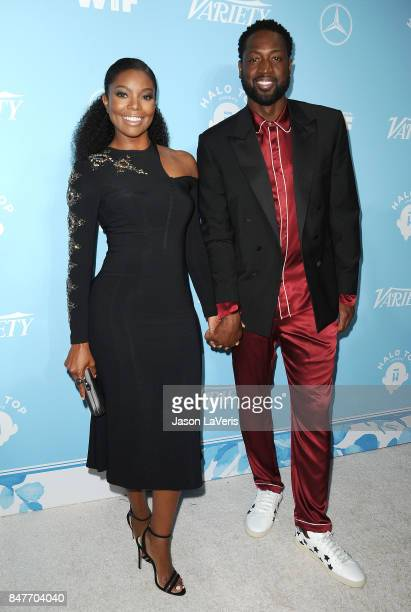 Gabrielle Union and Dwyane Wade attend Variety and Women In Film's 2017 preEmmy celebration at Gracias Madre on September 15 2017 in West Hollywood...