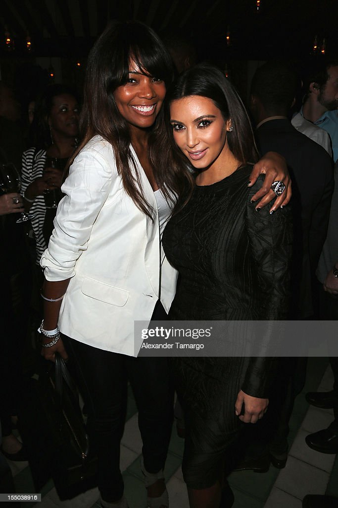 <a gi-track='captionPersonalityLinkClicked' href=/galleries/search?phrase=Gabrielle+Union&family=editorial&specificpeople=202066 ng-click='$event.stopPropagation()'>Gabrielle Union</a> and <a gi-track='captionPersonalityLinkClicked' href=/galleries/search?phrase=Kim+Kardashian&family=editorial&specificpeople=753387 ng-click='$event.stopPropagation()'>Kim Kardashian</a> attend Samsung Galaxy Note II Presents: The Next Big Thing & The Ring at Soho Beach House Miami on October 30, 2012 in Miami Beach, Florida.