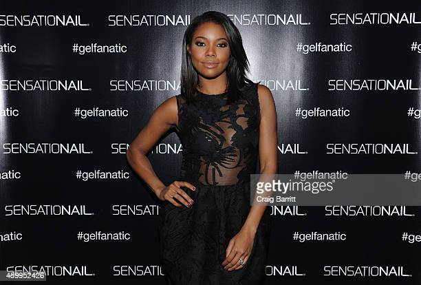 Gabrielle Union announces new partnership with SensatioNail at Gansevoort Park Hotel on December 4 2014 in New York City