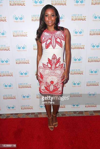 Gabrielle Union attends A Night on the RunWade For Wades World Foundation at Moore Building on September 27 2012 in Miami Florida